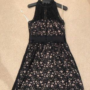 Banana republic lace lined dress sz 8